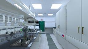 rappresentazione di 3D CG della stanza di scienza immagini stock
