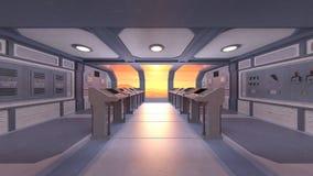 rappresentazione di 3D CG della stazione spaziale illustrazione vettoriale