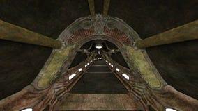rappresentazione di 3D CG delle rovine antiche illustrazione di stock