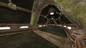 rappresentazione di 3D CG delle rovine antiche illustrazione vettoriale