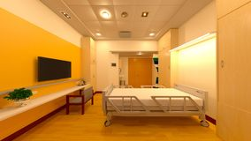 rappresentazione di 3D CG dello spazio medico Fotografia Stock