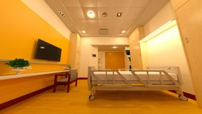 rappresentazione di 3D CG dello spazio medico Immagine Stock