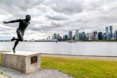 Rappresentazione di HDR del punto di hallelujah a Stanley Park, Vancouver fotografie stock