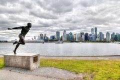 Rappresentazione di HDR del punto di hallelujah a Stanley Park, Vancouver immagine stock