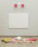 Rappresentazione di lavoro di interior design 3d della stanza dei bambini immagine stock libera da diritti