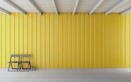 Rappresentazione di legno semplice della sala 3d Fotografia Stock Libera da Diritti