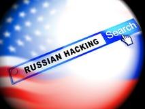 Rappresentazione di protezione 3d di minaccia di Internet del email di Phishing illustrazione di stock