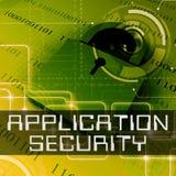 Rappresentazione di protezione 3d di programma di manifestazioni di sicurezza di applicazione immagine stock libera da diritti