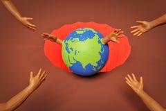 Rappresentazione di risparmio di concetto 3d della terra illustrazione vettoriale