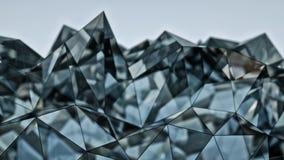 Rappresentazione di vetro futuristica della costruzione 3D con il DOF Fotografie Stock