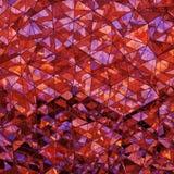 Rappresentazione di vetro rossa stratificata poligonale triangolare di forma 3D Fotografia Stock Libera da Diritti