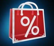 Rappresentazione digitale delle icone 3D di vendite di Black Friday Fotografie Stock