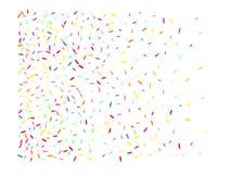 Rappresentazione esagonale multicolore dei coriandoli di forma illustrazione vettoriale