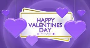 Rappresentazione felice di saluti 3d di giorno di biglietti di S. Valentino royalty illustrazione gratis