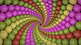 Rappresentazione a forma di del fondo 3d di spirale dell'estratto illustrazione vettoriale