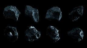 Rappresentazione a forma di stella del pacchetto 3D della roccia scura royalty illustrazione gratis