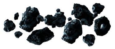 Rappresentazione a forma di stella del pacchetto 3D della roccia scura illustrazione di stock