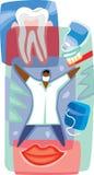 Rappresentazione grafica di cura dentale Fotografie Stock Libere da Diritti