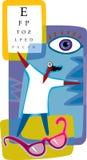 Rappresentazione grafica di optometria Fotografie Stock Libere da Diritti