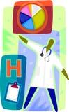 Rappresentazione grafica di un medico Fotografie Stock