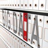 Rappresentazione grande di Logo Digital Information 3d di dati illustrazione di stock