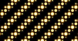 Rappresentazione inclinata commovente diagonale del fondo delle luci del bordo della matrice del proiettore della fase LED archivi video