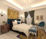 Rappresentazione interna 3D della camera da letto Immagini Stock