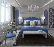 Rappresentazione interna 3D della camera da letto Fotografia Stock