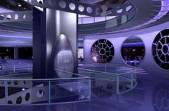 rappresentazione interna della nave spaziale 3D immagini stock