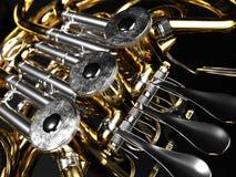 Rappresentazione invecchiata del corno francese 3D Fotografia Stock Libera da Diritti