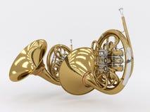 Rappresentazione invecchiata del corno francese 3D Immagine Stock Libera da Diritti