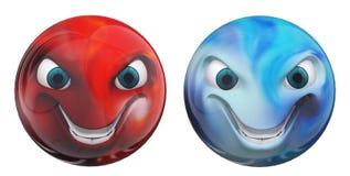 Rappresentazione isolata smiley 3d illustrazione di stock