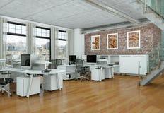 Rappresentazione moderna di interior design 3d del Ministero degli Interni Immagine Stock Libera da Diritti