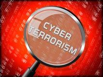 Rappresentazione online di Crime 3d del terrorista del terrorismo cyber illustrazione vettoriale