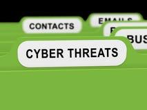 Rappresentazione online di protezione 3d di protezione dalle minacce cyber royalty illustrazione gratis