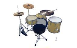 Rappresentazione semplice isolata del tamburo 3d di jazz Fotografia Stock