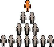 Rappresentazione simbolica dello schema di piramide di affari fotografie stock
