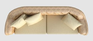 Rappresentazione Sofa Top View On White Immagini Stock