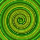 Rappresentazione a spirale torta verde intenso dell'estratto 3D di forma Fotografie Stock Libere da Diritti