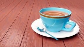 Rappresentazione sveglia della tazza di caffè 3d illustrazione vettoriale