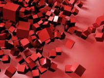 Rappresentazione variopinta astratta 3d dei cubi Immagini Stock