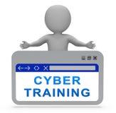 Rappresentazione virtuale della classe 3d di web di addestramento cyber illustrazione di stock