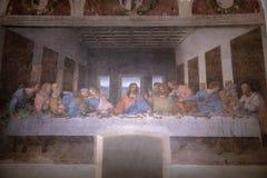Rappresenti l'ultima cena da Leonardo da Vinci immagini stock libere da diritti