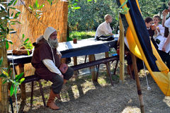 Rapresentation medieval style in a Malmantile City Medieval festival Lastra a SIGNA Stock Photos