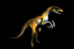 Raptor. A 3d trex raptor model stock illustration