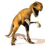 Raptor. Scene of the speed ravenous dinosaur Raptor Stock Photography