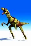 Raptor. Scene of the speed ravenous dinosaur Raptor Royalty Free Stock Photo