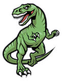 Raptor dinosaur mascot Royalty Free Stock Photo