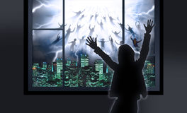 The Rapture. Of People out of the world Stock Photography