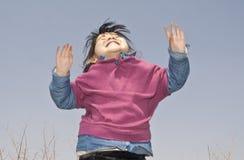 Rapture baby girl Royalty Free Stock Photo